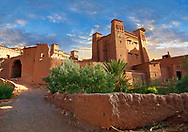 Adobe buildings of the Berber Ksar or fortified village of Ait Benhaddou, Sous-Massa-Dra Morocco .<br /> <br /> Visit our MOROCCO HISTORIC PLAXES PHOTO COLLECTIONS for more   photos  to download or buy as prints https://funkystock.photoshelter.com/gallery-collection/Morocco-Pictures-Photos-and-Images/C0000ds6t1_cvhPo<br /> .<br /> <br /> Visit our ISLAMIC HISTORICAL PLACES PHOTO COLLECTIONS for more photos to download or buy as wall art prints https://funkystock.photoshelter.com/gallery-collection/Islam-Islamic-Historic-Places-Architecture-Pictures-Images-of/C0000n7SGOHt9XWI