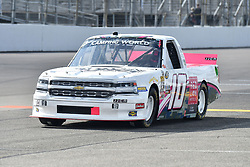 June 22, 2018 - Madison, Illinois, U.S. - MADISON, IL - JUNE 22:  Jennifer Jo Cobb (10) driving a Chevrolet for Driven2Honor warms up before  the Camping World Truck Series - Eaton 200 on June 22, 2018, at Gateway Motorsports Park, Madison, IL.   (Photo by Keith Gillett/Icon Sportswire) (Credit Image: © Keith Gillett/Icon SMI via ZUMA Press)