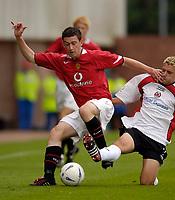 Fotball<br /> England 2005/2006<br /> Foto: SBI/Digitalsport<br /> NORWAY ONLY<br /> <br /> Clyde v Manchester United<br /> Preseason Friendly. 16/07/2005<br /> <br /> Manchester United's David Jones in action