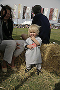 Evie Knight-Bruce, The Cornish Birthday party to Celebrate John Betjeman's Centenary. Carruan Farm. Polzeath. Conrwall. In aid of the new Padstow Lifeboat Station. 28 August 2006. ONE TIME USE ONLY - DO NOT ARCHIVE  © Copyright Photograph by Dafydd Jones 66 Stockwell Park Rd. London SW9 0DA Tel 020 7733 0108 www.dafjones.com