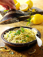 Lemon and coriander couscous
