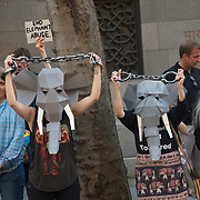 Protest against the cruelty to India's temple elephants, London, UK