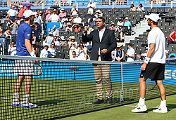 June 20, 2017 - London, United Kingdom - Andy Murray GBR  shoe with his weeding on the lace  during Round One match on the second day of the ATP Aegon Championships at the Queen's Club in west London on June 20, 2017  (Credit Image: © Kieran Galvin/NurPhoto via ZUMA Press)
