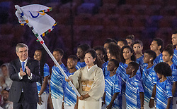 21-08-2016 BRA: Olympic Games day 22, Rio de Janeiro<br /> Rio neemt afscheid van de Olympische Spelen, sluitingsceremonie met veel dans, muziek en saaiheid /