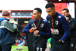 Bournemouth's Nathaniel Clyne (centre) warming up before the Emirates FA Cup, third round match at the Vitality Stadium, Bournemouth.