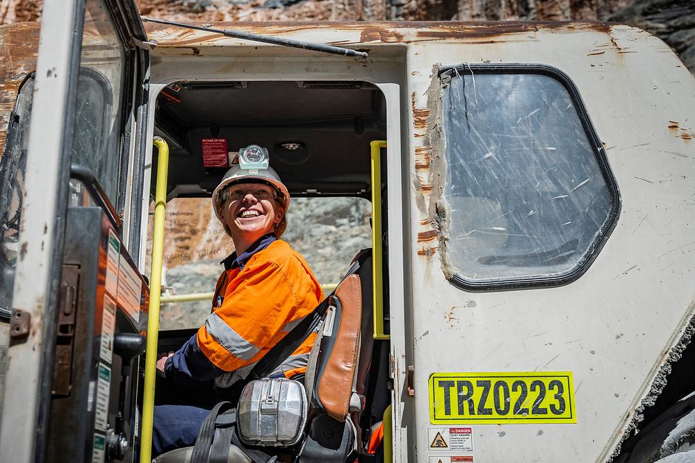 Underground mining operations in the Western Australia Goldfields.