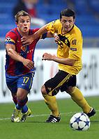 Basels Xherdan Shaqiri gegen Sheriffs Vladimir Brankovic © Giuseppe Esposito/EQ Images