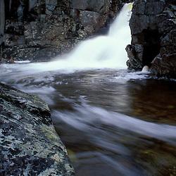 Rocky Glen Falls.  Cascade Brook.   White Mountain N.F.  Waterfall.  Franconia Notch SP, NH
