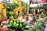 Spain, Seville, Santa Cruz District a courtyard