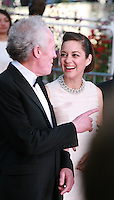 Jean-Pierre Dardenne, Marion Cotillard, at the Two Days, One Night (Deux Jours, Une Nuit) gala screening red carpet at the 67th Cannes Film Festival France. Tuesday 20th May 2014 in Cannes Film Festival, France.