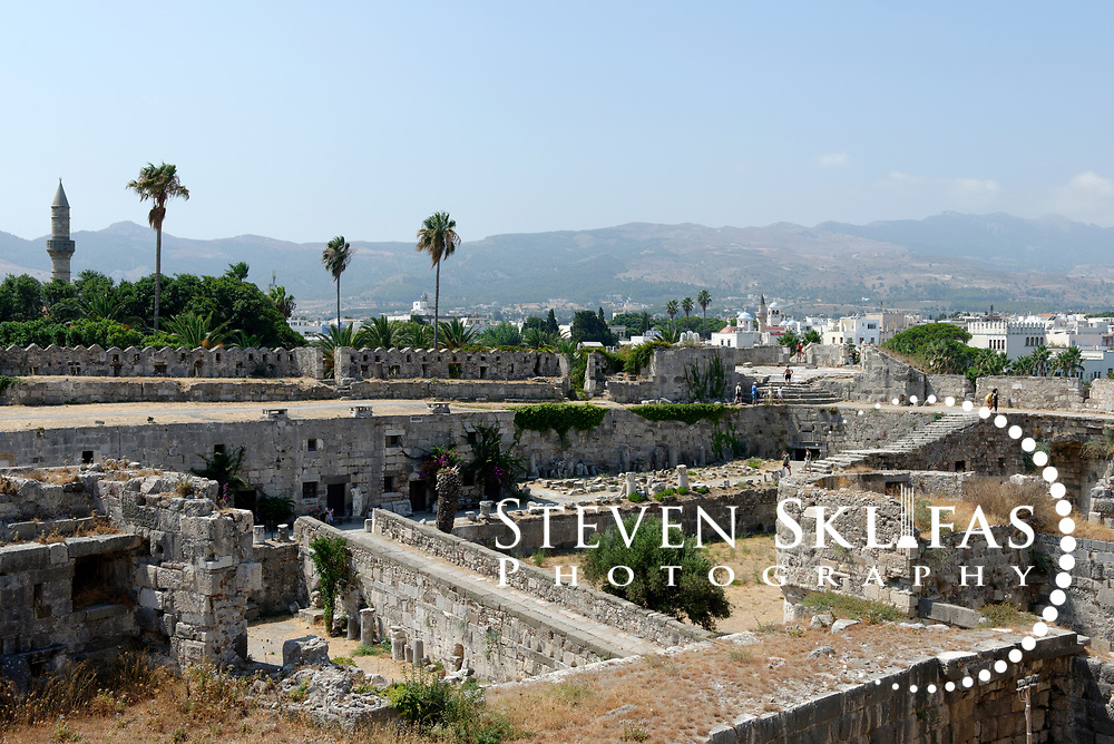 This image was captured at the fortress of Kos Town, the capital of the Greek island of Kos. The castle stands at the entrance to the harbor of Kos Town and was built by the Knights of the Order of St John of Jerusalem, who captured the island in 1314 and held it until 1522 when it fell to the Turks. The castle occupied a strategic position in that, together with the castle of Halikarnassos on the coast of Asia Minor opposite, it gave them control of the sea lanes.