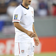 USA midfielder Landon Donovan (10) reacts during a CONCACAF Gold Cup soccer match between the United States and Panama on Saturday, June 11, 2011, at Raymond James Stadium in Tampa, Fla. (AP Photo/Alex Menendez)