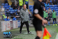 Cardiff City manager Neil Warnock looks on from his technical area during the match. EFL Skybet championship match, Cardiff city v Wigan Athletic at the Cardiff city stadium in Cardiff, South Wales on Saturday 29th October 2016.<br /> pic by Carl Robertson, Andrew Orchard sports photography.