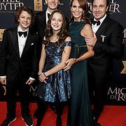 NLD/Amsterdam/20150126 - Premiere Michiel de Ruyter, Marco Borsato, partner Leontien Ruiters en kinderen Luca, Senna, Jada Maria