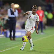 England forward Nikita Parris (7) is seen during the first match of the 2020 She Believes Cup soccer tournament at Exploria Stadium on 5 March 2020 in Orlando, Florida USA.