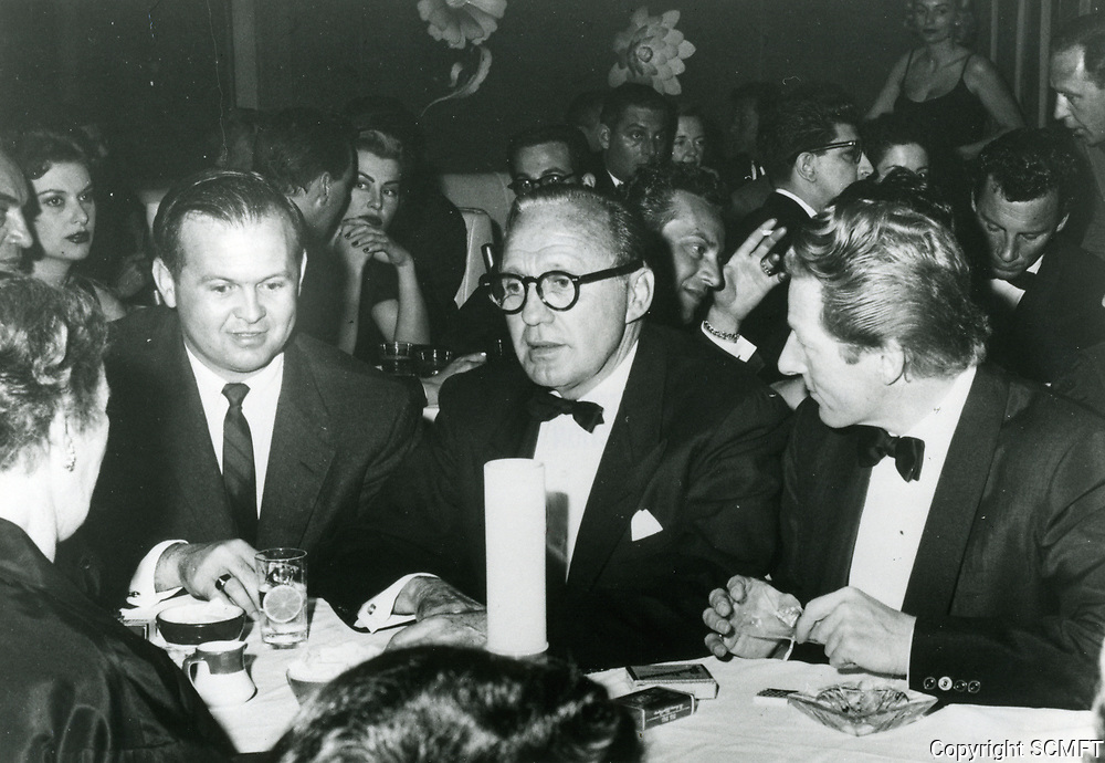 1955 Johnny Grant, Jack Benny & Danny Kaye at the Mocambo Nightclub in West Hollywood