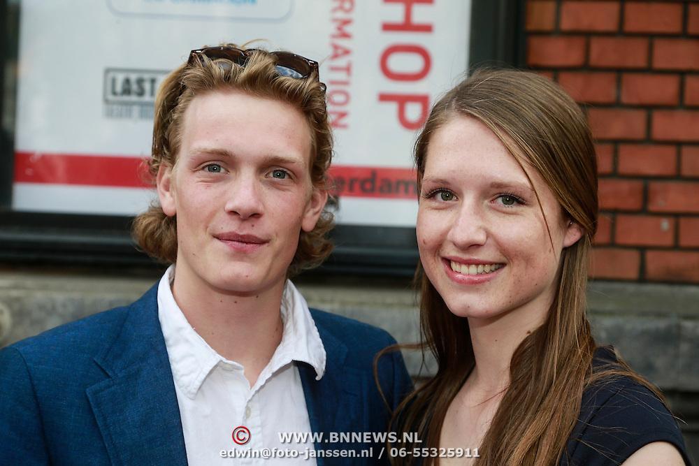 NLD/Amsterdam/20130424- Filmpremiere Boven is het Stil, Martijn Lakemeier en partner