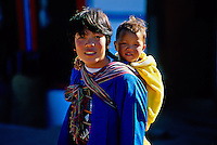 Mother and child, Punakha Valley, Bhutan