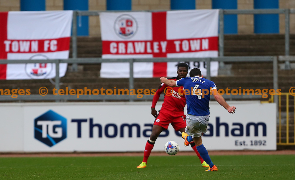 Luke Joyce of Carlisle fires in Carlisles third goal from long range during the Sky Bet League 2 match between Carlisle United and Crawley Town at Brunton Park in Carlisle. October 29, 2016.<br /> James Boardman / Telephoto Images<br /> +44 7967 642437