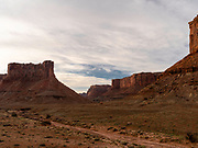 Image of a butte in the Taylor Canyon area in a remote section of the Island in the Sky District of Canyonlands National Park, San Juan County, Utah, USA.