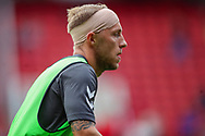 Charlton Athletic midfielder Chris Solly (20) warming up during the EFL Sky Bet League 1 match between Charlton Athletic and Shrewsbury Town at The Valley, London, England on 11 August 2018.