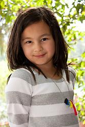 United States, Washington, Seattle, girl (age 8).  MR