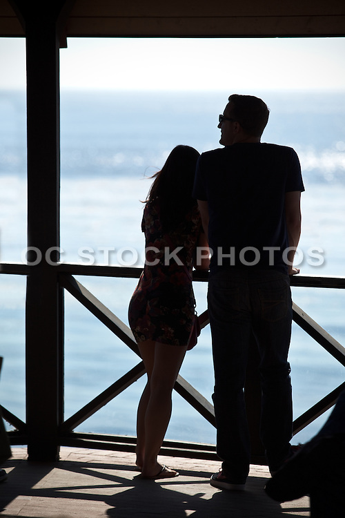 Young Couple In Gazebo At Heisler Park