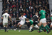 Twickenham, United Kingdom. Anthony Watson,  Natwest 6 Nations : England vs Ireland. at the  RFU Stadium, Twickenham, England, <br /> <br /> Saturday   17.03.18<br /> <br /> [Mandatory Credit; Peter Spurrier/Intersport-images]