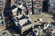 Nederland, Noord-Holland, Amsterdam, 27-09-2015; Dam met Koninklijk Paleis en Nieuwe Kerk. Damrak met Bijenkorf<br /> Heart of Amsterdam, area around Dam Square with Royal Palace.<br /> luchtfoto (toeslag op standard tarieven);<br /> aerial photo (additional fee required);<br /> copyright foto/photo Siebe Swart
