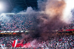 14-08-2018 NED: Champions League AFC Ajax - Standard de Liege, Amsterdam<br /> Third Qualifying Round,  3-0 victory Ajax during the UEFA Champions League match between Ajax v Standard Luik at the Johan Cruijff Arena / Ajax support