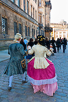 Historical costumes, Dresden, Saxony, Germany