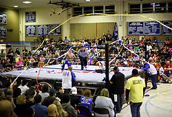 12 March 2016. Metairie, Louisiana.<br /> Wrestling action from Wildkat Sports and Entertainment's 'March into Mayhem' at the Meisler Middle School. The SituAsian, Bu Ku Dao defeats 'Hyperstreak' Greg Sharpe via submission.<br /> Photo©; Charlie Varley/varleypix.com