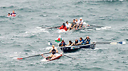 St Peter's Port, Guernsey, CHANNEL ISLANDS,    crews move away from the start in the 2006 British and International Coastal Rowing  Rowing Challenge, Men's Classes, 02/09/2006.  Photo  Peter Spurrier, © Intersport Images,  Tel +44 [0] 7973 819 551,  email images@intersport-images.com