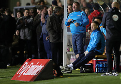 Sutton substitute goal keeper Wayne Shaw during the Emirates FA Cup, Fifth Round match at Gander Green Lane, London.