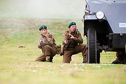 reenactors portray members of Fox Commando Royal Navy during a battle reenactment at Sheffield Fair at Norfolk Heritage Park Sheffield Bank Holiday Weekend.28th & 29th August 2011 Image © Paul David Drabble