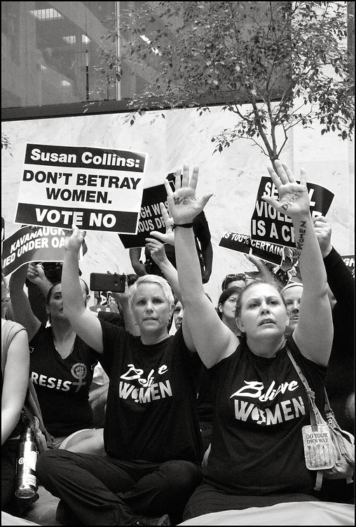 On October 4th, 2018 approximately 1000 people marched through Washing ton DC to protest the appointment, by President Donald trump, of Brett Kavanaugh, to the Supreme Court of the United States. <br /> <br /> The protesters marched from the federal courthouse to the Supreme Court to the Senate.  They were hoping to sway a handful of lawmakers considered swing votes in determining the fate of Kavanaugh after Christine Blasey Ford, accused the judge of sexually assaulting her at a high school party 36 years ago, a claim Kavanaugh denies. <br /> <br /> At least 300 people were arrested for sitting down in the atrium of the Hart Building and refusing to leave.