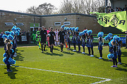 Guard of hounor during the EFL Sky Bet League 2 match between Forest Green Rovers and Milton Keynes Dons at the New Lawn, Forest Green, United Kingdom on 30 March 2019.