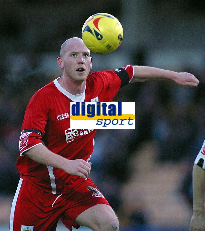 Photo: Paul Thomas.<br /> Port Vale v Bristol City. Coca Cola League 1. 17/12/2005.<br /> Bristol City goal scorer Steve Brooker.