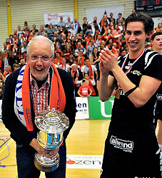 14-04-2012 VOLLEYBAL: FINAL PLAY-OFFS LANGHENKEL VOLLEY - AMBIANT LYCURGUS: DOETINCHEM<br /> Langhenkel Volley kampioen van Nederland  met oa. Pim Kamps<br /> ©2012-FotoHoogendoorn.nl