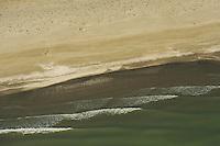Aerials over the Danube delta rewilding area, Black Sea coast, Romania