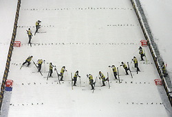 Volunteers at Ski Jumping ladies Normal Hill Individual of FIS Nordic World Ski Championships Liberec 2008, on February 20, 2009, in Jested, Liberec, Czech Republic. (Photo by Vid Ponikvar / Sportida)