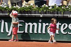 June 9, 2018 - Paris, France, France - Enfants d Amelie Mauresmo - Aaron et Ayla (Credit Image: © Panoramic via ZUMA Press)