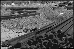 Rail Ties at the Union Pacific Subdivision Cima Nevada next to the Cima Road.