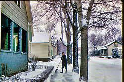 Look residence, Caroline St. Peking IL 1959 <br /> <br /> George Look<br /> <br />  Photos taken by George Look.  Image started as a color slide.