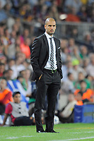 FOOTBALL - CHAMPIONS LEAGUE 2010/2011 - GROUP STAGE - GROUP D - FC BARCELONA v PANATHINAIKOS - 14/09/2010 - PHOTO JEAN MARIE HERVIO / DPPI - JOSEP GUARDIOLA (BARCELONA COACH)