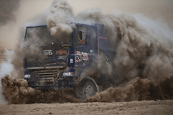 AREQUIPA, Jan. 11, 2019  Italian driver Claudio Bellina and co-driver Giulio Minelli compete during the 4th stage of the 2019 Dakar Rally Race, near La Joya, Arequipa province, Peru, on Jan. 10, 2019. Claudio Bellina and Giulio Minelli finished the 4th stage with 8 hours 22 minutes and 21 seconds. (Credit Image: © Xinhua via ZUMA Wire)