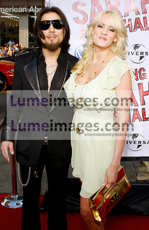 """Dave Navarro and Stormy Daniels attend the World Premiere of """"Forgetting Sarah Marshall"""" held at the Grauman's Chinese Theater in Hollywood, California, United States on April 10, 2008."""