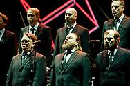 Finnish Choir Mieskuoro Huutajat during the final rehearsal of Opera Industriale, on the opening weekend of Rijeka2020. Rijeka, European Capital of Culture 2020, Croatia © Rudolf Abraham