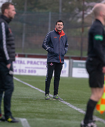 Airdrie's manager Ian Murray. Stenhousemuir 1 v 0 Airdrie, Scottish Football League Division One played 26/1/2019 at Ochilview Park.