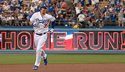 June 10, 2017 - Los Angeles, California, U.S. - Los Angeles Dodgers' Cody Bellinger rounds second base after hitting a solo home run against the Cincinnati Reds in the first inning of a Major League baseball game at Dodger Stadium on Saturday, June 10, 2017 in Los Angeles. (Photo by Keith Birmingham, Pasadena Star-News/SCNG) (Credit Image: © San Gabriel Valley Tribune via ZUMA Wire)